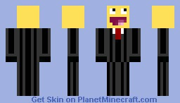 happy guy in suit Minecraft Skin