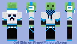 Light Blue Slime DJ Minecraft Skin