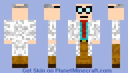 Black Mesa Scientist Minecraft Skin