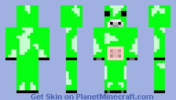 green cow Minecraft Skin