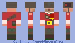 Tf2 Soldier (hat and miscs agian) Minecraft Skin