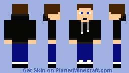 guy in black hoodie Minecraft Skin