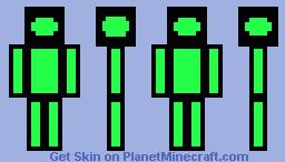 Cartoon Box Guy Minecraft Skin