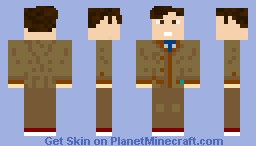 11th doctor after 10th doctor regenerated Minecraft Skin