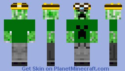 Creeper Miner Minecraft Skin