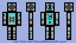 Cyan Robot Minecraft Skin