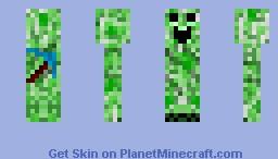 Creeper, (Black arms, still in progress) Minecraft Skin