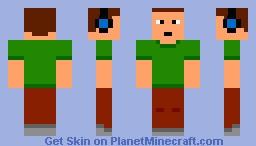 Man w/ green shirt Minecraft Skin