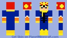 Captain falcon Minecraft Skin