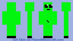 bright green person Minecraft Skin