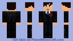 Groom (w/ rose) Minecraft Skin