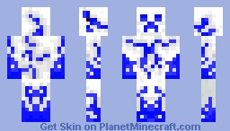 White Water Creeper Minecraft Skin