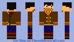 Bushranger (with 3D mask) looks better in 3D Minecraft Skin
