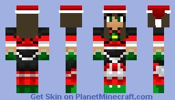 SkyDoesMinecraft Christmas girl Minecraft Skin