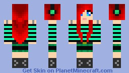 Redb15 minecraft skin red haired girl minecraft skin