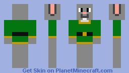 Hare/Bunny with a Green Tunic *Requested By W0NWILL* Minecraft Skin