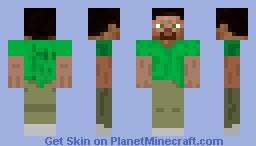 Steve [GREEN] Minecraft Skin
