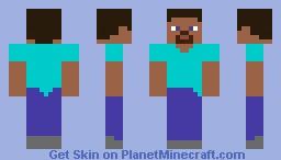 Old style Steve Minecraft Skin
