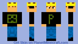 Player (w/ crown & headphones) Minecraft Skin
