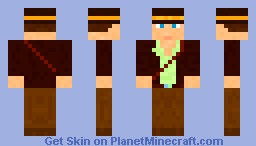 Indiana Jones(Diamond&Comment) Minecraft Skin