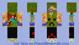 He used to punch creepers (better in 3d) Minecraft Skin