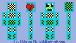 Neon Checkers Man Minecraft Skin