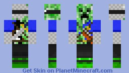 Masked Creeper Hunter Minecraft Skin