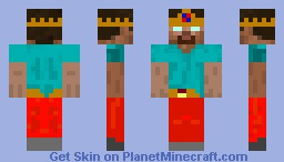 A Evil King with red pants O.o Minecraft Skin