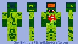 Infected Man Minecraft Skin
