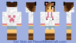Girl In creeper jacket Minecraft Skin