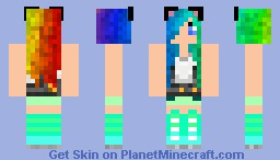 Pics For > Minecraft Skins For Girls Rainbow Hair