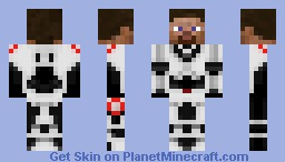 Steve with black eyes and black hair in space armor Minecraft Skin