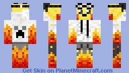Rock Pikachu Minecraft Skin