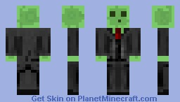 Green Slime a Suit :P Minecraft Skin