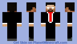 HD Herobrine in a Suit Minecraft Skin