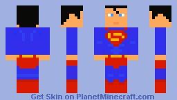 Superman + Downloadable cape Minecraft Skin