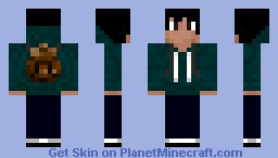 Blue hoodie with backpack Minecraft Skin