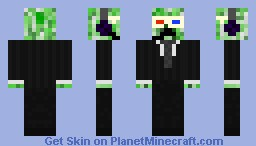 creeper with 3d glassers and head phones on Minecraft Skin