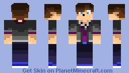 My first skin, redone. :) Minecraft Skin