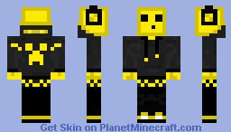 Yellow Slime with hoodie and Head Phones Minecraft Skin