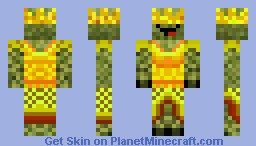 Derpy Creeper King Minecraft Skin