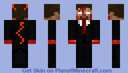 herobrine in a suit with devil tail Minecraft Skin