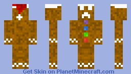 Gingerbread Creeper Minecraft Skin