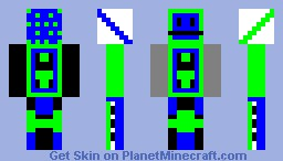 Boss Blue Green Retro Skin Minecraft Skin