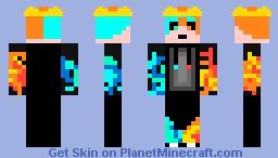 Ateş ve Su Minecraft Skin