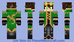 Steampunk Boy (Green Version) Minecraft Skin