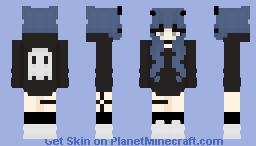 Girl w/ Ghost Hoodie Minecraft Skin