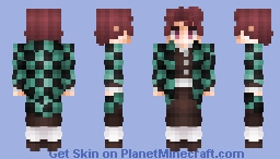 Tanjiro Kamado - Demon Slayer Minecraft Skin