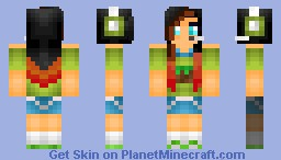 A minecraft gamer girl. Minecraft Skin
