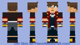 Sora (Kingdom Hearts/Final Fantasy) Minecraft Skin
